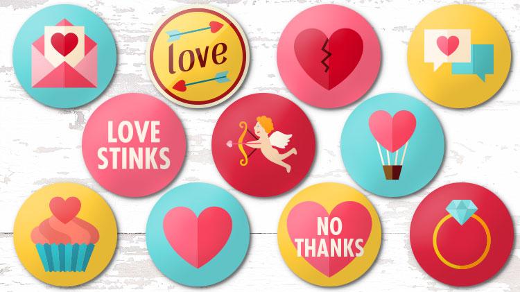 Valentine Button Making