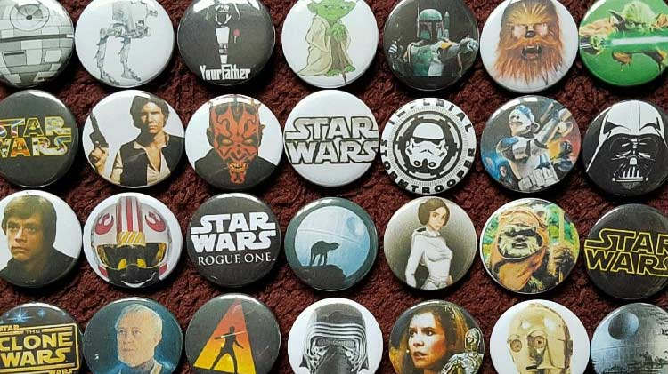 Punch it, Chewie: Star Wars Buttons