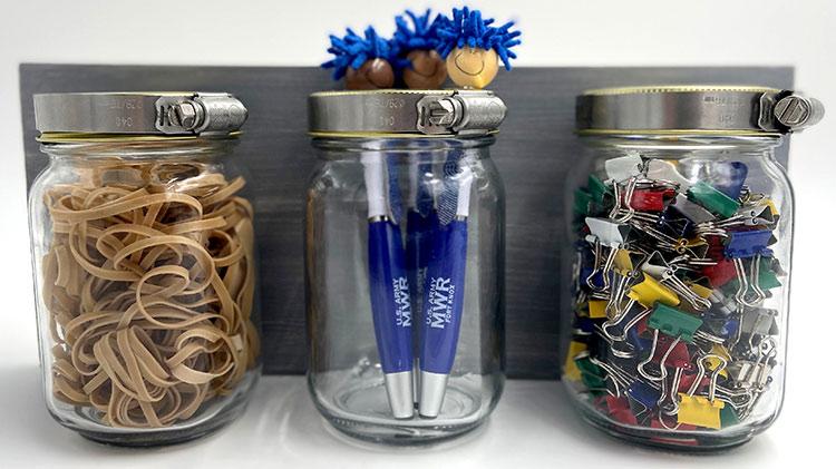 Crafts and Drafts: Mason Jar Organizer
