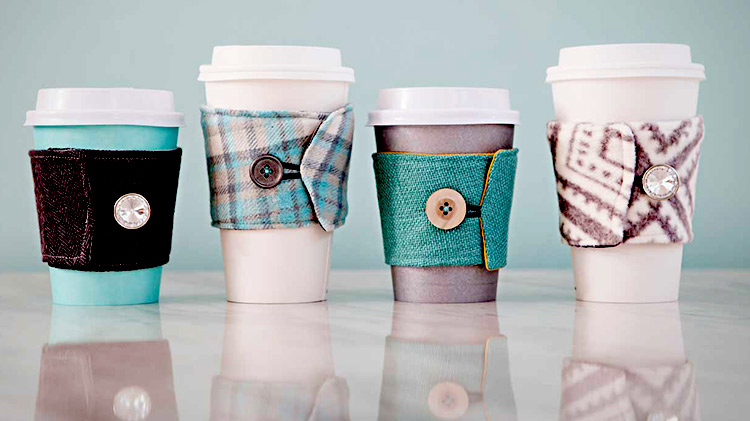 Sewing 101: Reusable Coffee Cup Sleeve