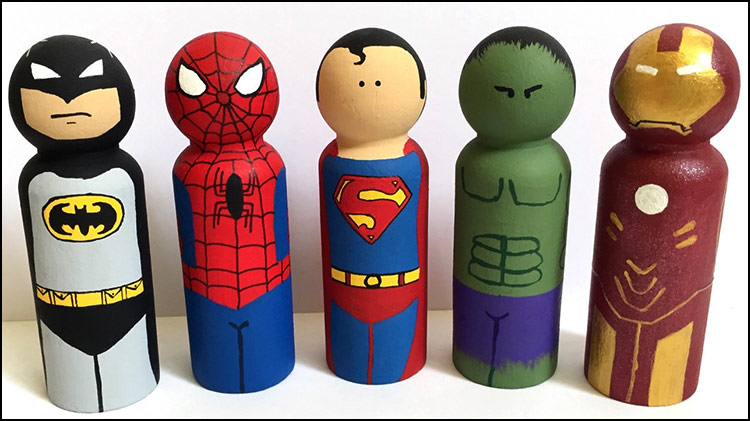 Superhero Pegs