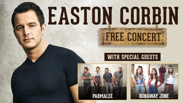 Easton Corbin Free Concert