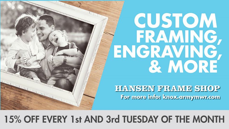 15% Off Custom Framing, Engraving, and More