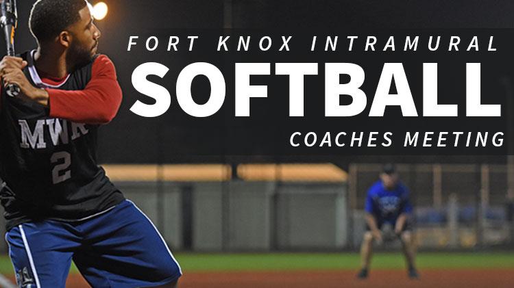 Intramural Softball Coaches Meeting