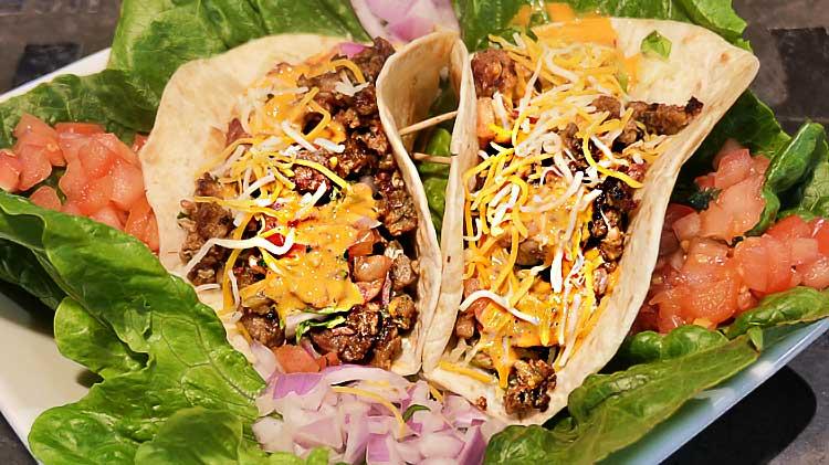 Brisket Tacos at Samuel Adams Brewhouse